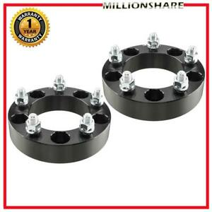 2pc 5x5 5 Black For Dodge Ram 1500 38mm Thick Wheel Spacers Adapters 9 16 Studs