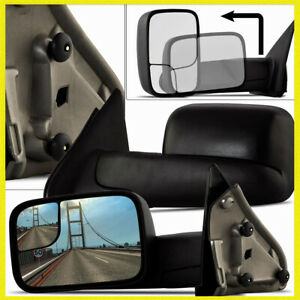 Driver Side Tow Mirror For 2002 2010 Dodge Ram Pickup Manual Fold Blind Spot