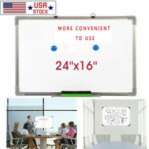 24 x16 Magnetic Whiteboard Office Dry Erase Drawing Writing Board School Study
