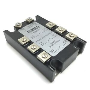 Crouzet 84068651 Solid State Relay Input 3 32vdc Output 12 530vac 45a 3 phase