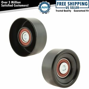 Belt Idler Or Tensioner Pulley W Bearing Pair For Gm Ford Dodge Jeep