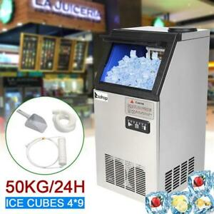 Commercial Stainless Steel Built in Ice Maker Undercounter Ice Cube Machine 110l