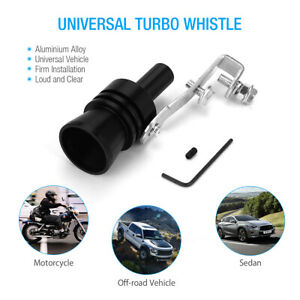 Universal Turbo Sound Exhaust Muffler Pipe Whistle Car Oversized Roar Maker New