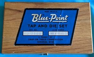 Vintage Blue Point Snap On Tool And Die Set Td2500 No 4 12 Kenosha Wis