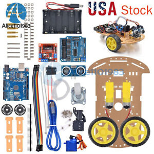 For Arduino Avoidance Tracking Motor 2 Wd Smart Robot Car Chassis Speed Encoder