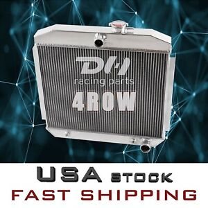 4 Row Aluminum Radiator For 1955 1956 1957 Chevy Belair Nomad Del Ray 150 210 V8