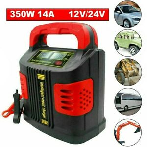 350w Heavy Duty Smart Leisure Car Battery Trickle Charger Pulse Repair 12v 24v