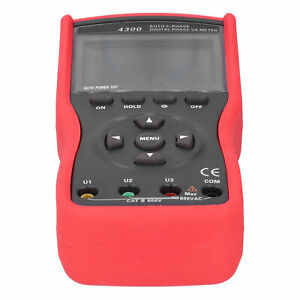 2 8 Tft 3phase Voltampere Phase Meter Tester For Phase Sequence Power Testing
