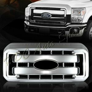 For 2011 2016 Ford F250 F350 Super Duty Chrome Grille Grill Full Overlay Cover
