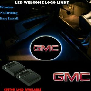 Projector For Led Car Door Light Gmc Wireless Laser Welcome Shadow 2pcs