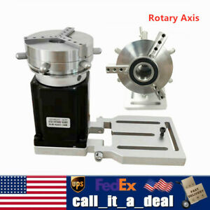 Rotary Axis 3 Jaw Chuck Rotating Fixture Md542a Driver For Laser Marking Machine