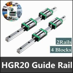 2pcs Hgr20 200mm 2000mm Linear Guide Rail 4pcs Hgh20ca Slider Block For Cnc 3d