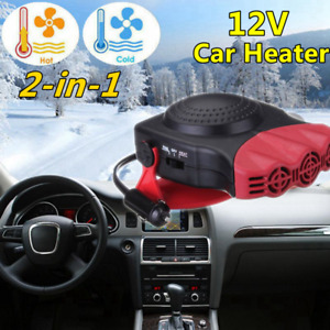 150w Portable Auto Heater Heating Cooling Fan Defroster Demister Car Truck