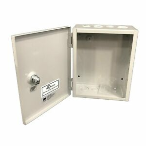 1 Sheet Metal Junction Box Electric Hinged Cover Enclosure Wire 8 x10 x4 Depth
