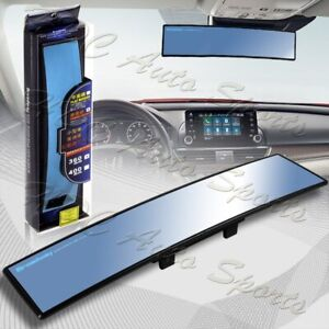 Universal Broadway 360mm Wide Convex Interior Clip On Rear View Blue Tint Mirror