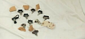 Vintage Toggle Switch Button Switches Lot Of 10 m389