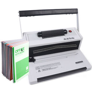 S20a Manual Spiral Coils Binding Machine Documents Spiral Coil Paper Binding New
