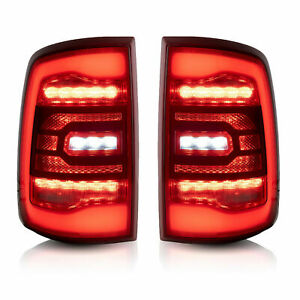 For 09 18 Ram All Trim Pickup 19 21 1500 Classic Red Fiber Optic Led Taillight