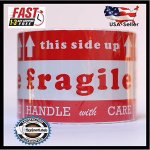 1 6 Rolls 4 X 6 Fragile Stickers 600 roll Handle With Care Labels Usa Shipping