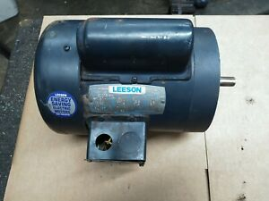 Leeson 3 4 Hp 115 208 230vac Single Phase Electric Motor 56c Tefc 1725rpm Tested