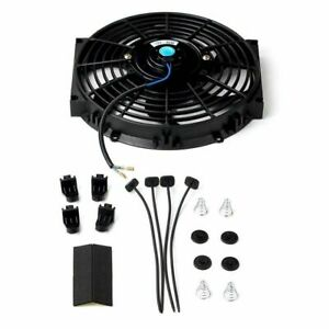 10 Slim Fan Push Pull Electric Radiator Cooling 12v Mount Kit Universal