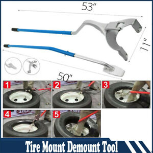 Tire Changer Mount Demount Tools Tool Set Tubeless Truck Bead 17 5 To 24 Blue
