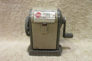 Vintage Apsco Dexter Super 10 Pencil Sharpener Desk Or Wall Mount 6 Hole