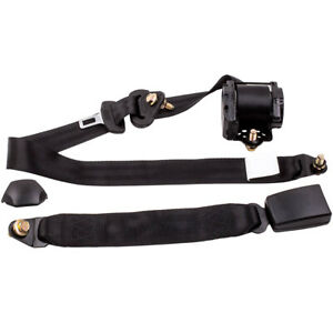 3 Point Safety Harness Adjustable Retractable Auto Car Seat Belt Lap Universal
