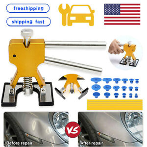 Car Paintless Dent Repair Puller Remover Kit Lifter Dint Hail Damage 18 Tab Tool