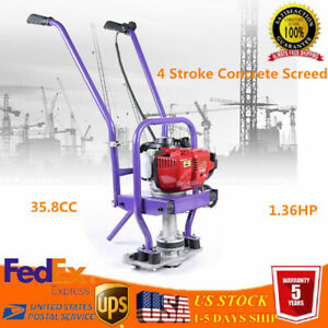 4 Stroke Gas Concrete Wet Power Screed Cement Engine Pavement Leveling Tool Gx35
