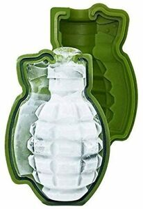 Grenade Ice Cube Tray Silicone Round Ball Maker Sphere Mold Cocktails Whiskey