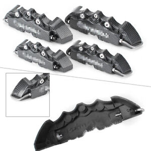 3d Style Carbon Fiber Disc Brake Caliper Covers Universal For 14 17 Inch Wheels
