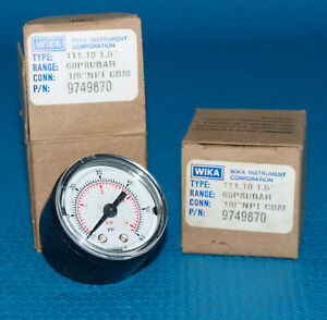 Lot Of 3 New Wika 0 60 Psi Pressure Gauge 1 8 Npt Small 1 Dial P n 9749870