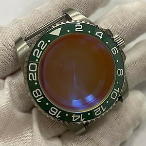 Watch Case Sapphire Glass Ceramic Bezel Watch Parts For Nh35 nh36 40mm Movement