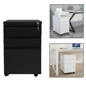 Filing Pedestal Cabinet File Office With 5 Drawers Chest Storage Cabinet