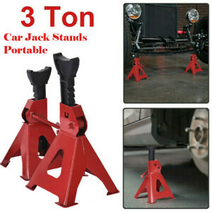 Car Jack Stands 3 Ton Vehicle Support Auto Lift Tool Set 2 Pack 17 High Lift