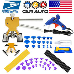 Paintless Car Dent Removal Puller Repair Kits Hail Damage Dent T bar Auto Tools