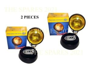 2x Hella Universal Genuine Round Fog Lamp Yellow Glass Cover Without Bulb U