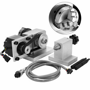 Cnc Router Rotational Rotary Axis 3 Jaw Chuck tailstock For 4th axis Engraver
