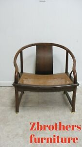 Vintage Baker Furniture Pan Asian Lounge Arm Chair Mid Century Cane Seat A