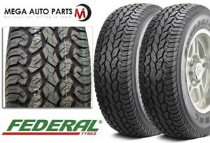 2 New Federal Couragia A t Lt235 75r15 6ply Owl All Terrain Off Road Suv Tires