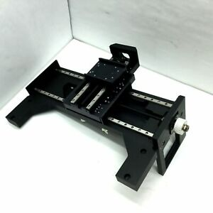 Xy Two Axis Positioning Stage Ball Screw Table Travel X 7 Y 5 Table 3 6x2 67
