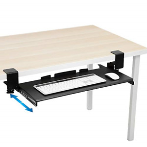 Mount it Clamp Keyboard Tray Ergonomic Under Desk Pull Out Keyboard And Mouse