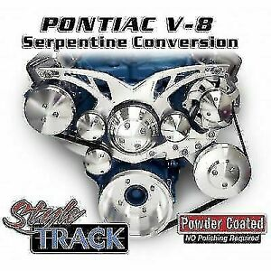 March Performance 13135 Aluminum Serpentine Pulley Kit For Pontiac V8