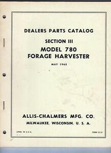 Allis Chalmers Model 72 All Crop Harvester Special Attachments Manual C