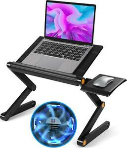 Huanuo Adjustable Laptop Stand Foldable Laptop Table Stand With 2 Cpu Cooling