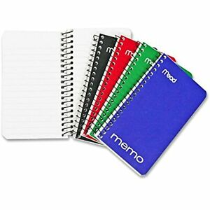 Small Spiral Notebooks Lined College Ruled Paper Pocket Home Office Accessories