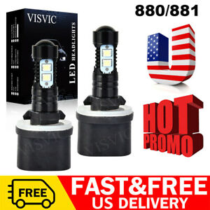 880 Led Fog Driving Light Bulbs Kit For Gmc Sierra 1500 99 2006 50w 6000k White