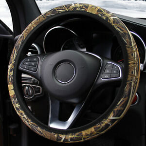 Universal Camouflage Auto Car Steering Wheel Cover Protector Non slip 37cm 38 Wi