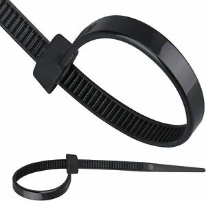 1000 Pcs 4 Inch Zip Cable Ties Nylon Black 18 Lbs Uv Weather Resistant Wirecable